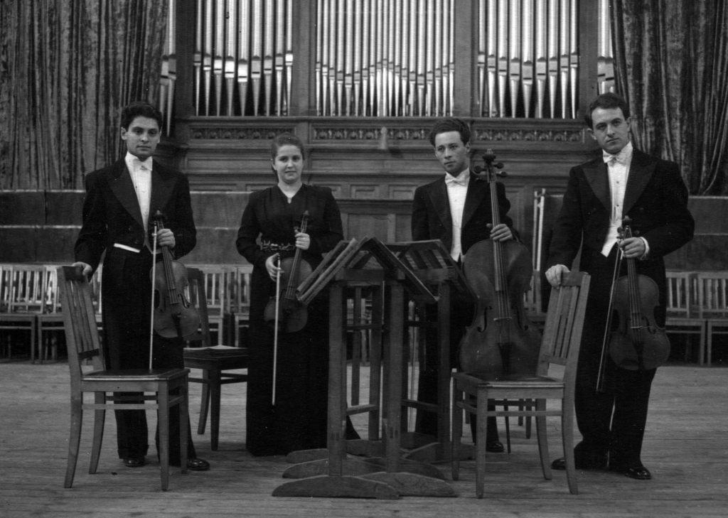 The Borodin Quartet: Rostislav Dubinsky, Nina Barshai,   Valentin Berlinsky, Rudolf Barshai