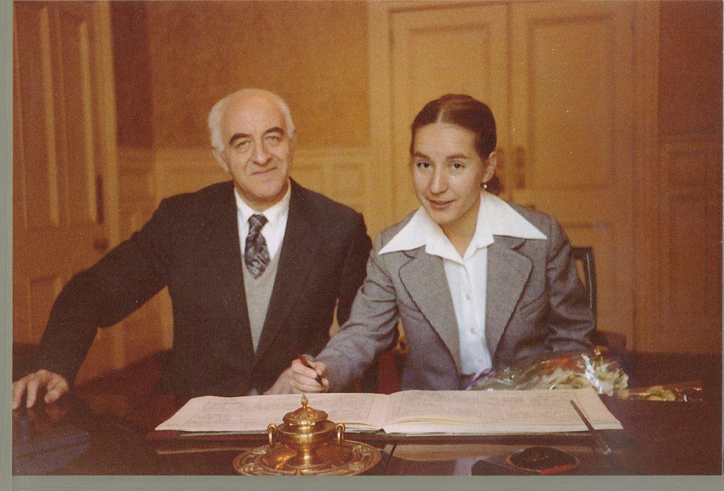 Бракосочетание Рудольфа и Елены Баршай. Южный Кенсингтон, Лондон, 1980