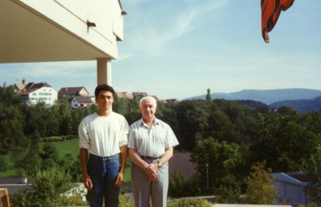 Рудольф Баршай с сыном Такеши в Рамлинсбурге