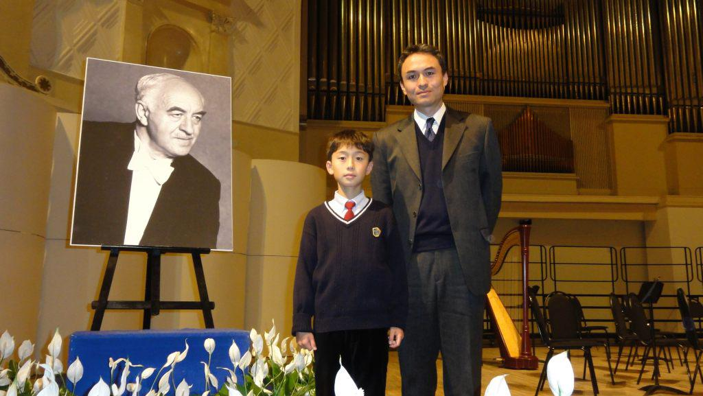 "Takeshi and Ruichi Soda, son and grandson of Rudolf   Barshai. Tchaikovsky Concert hall, Moscow. After a   Concert ""Tribute to Rudolf Barshai"". November 5 2011"