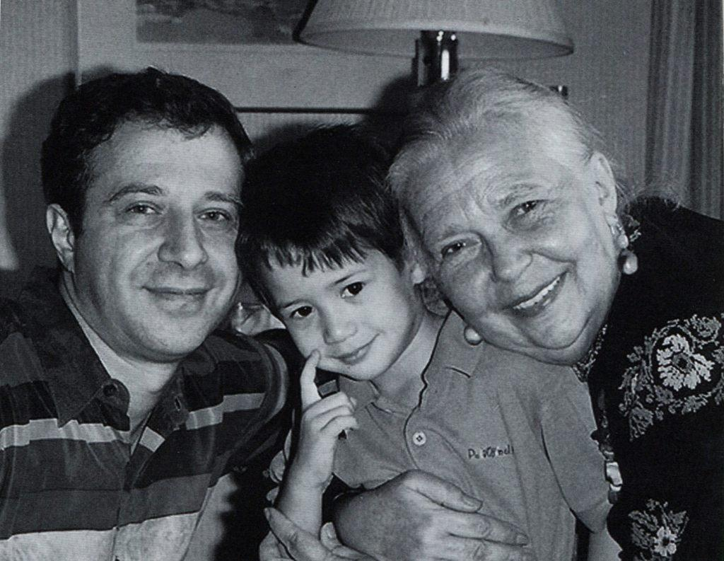 Vladimir Barshai with his mother Anna Martinson and   his son Benjamin