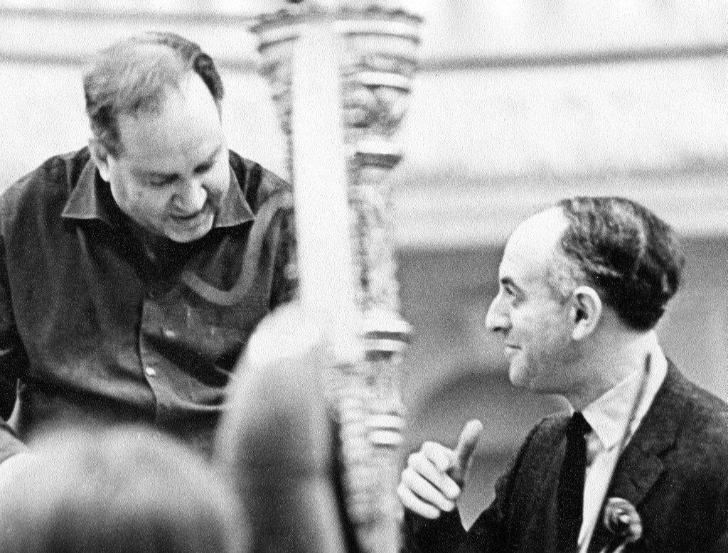 Rehearsal with David Oistrakh. The Grand hall of   Moscow conservatory