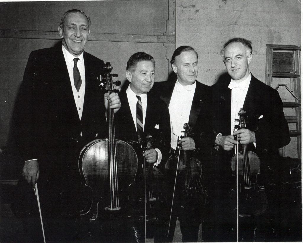 Gregor Piatigorsky, Henrich Temyanko, Yehudi   Menuhin, Rudolf Barshai. Quartet recital