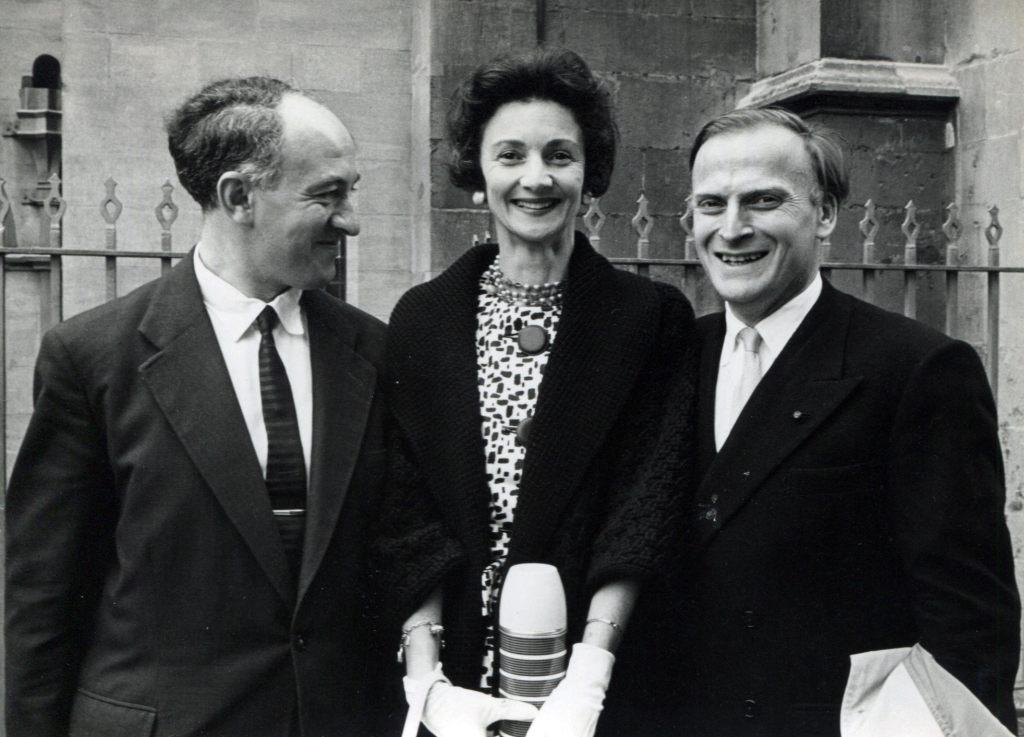 Rudolf Barshai with Diana and Yehudi Menuhins.   London, 1962