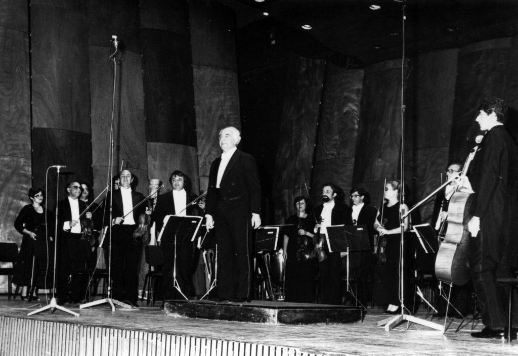 Концерт Израильского камерного оркестра.   Дирижер Рудольф Баршай. 1977