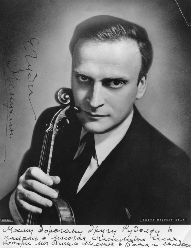 Card from Yehudi Menuhin